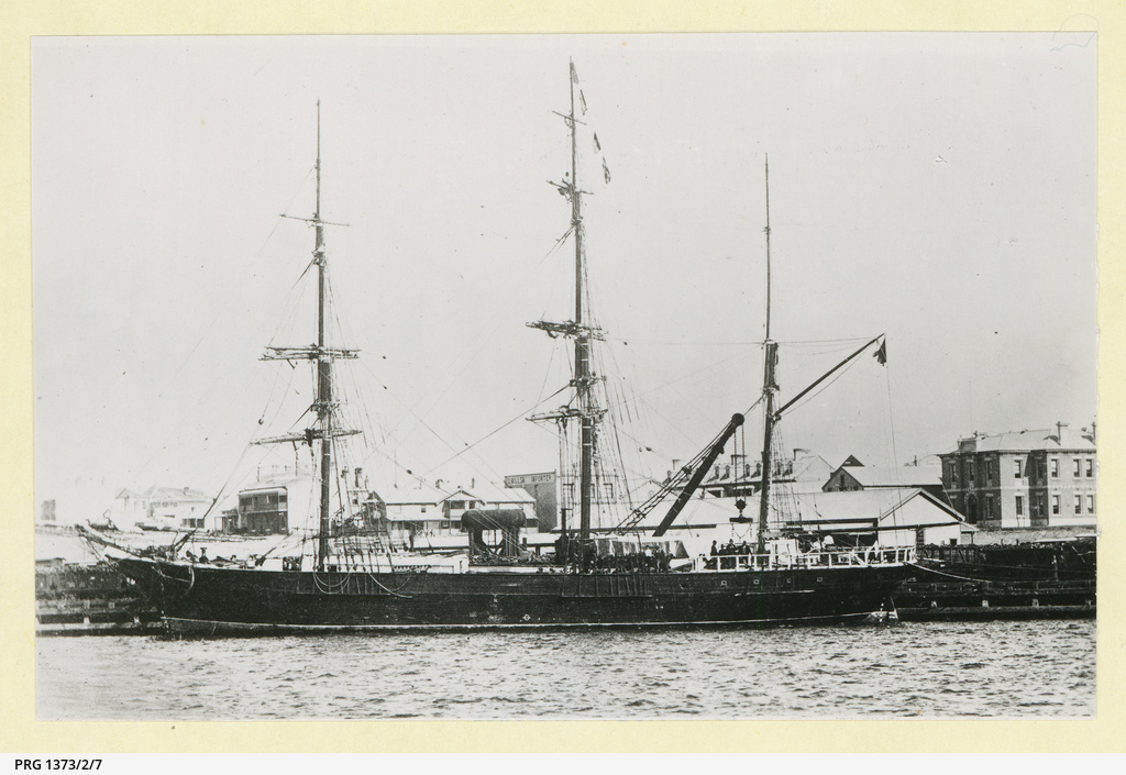 The 'Heather Bell' docked in Newcastle