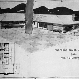 Plan of a house for V.C. Grimmett