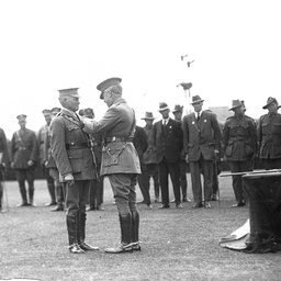 Governor of South Australia attending a medal presentation ceremony