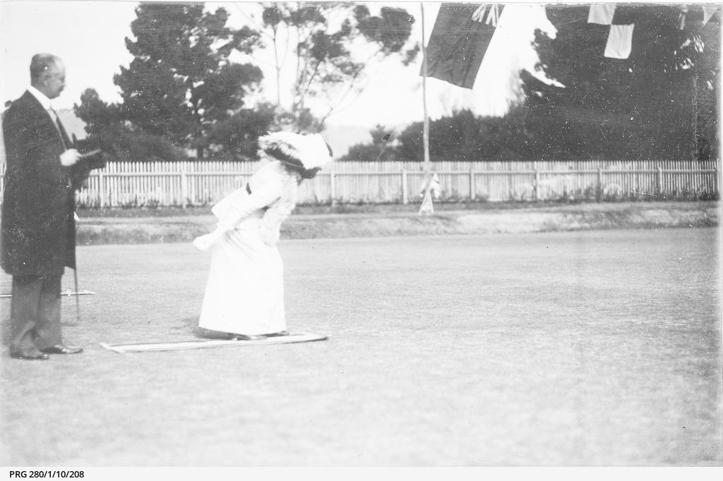 The 'first ball' at Kapunda Bowling Club
