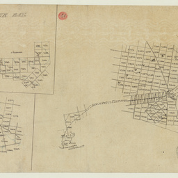 [Tracing showing sections in Encounter Bay and Goolwa, including the proposed railway line to Port Elliot] [cartographic material]