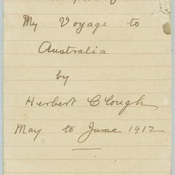 Diary of Herbert Clough