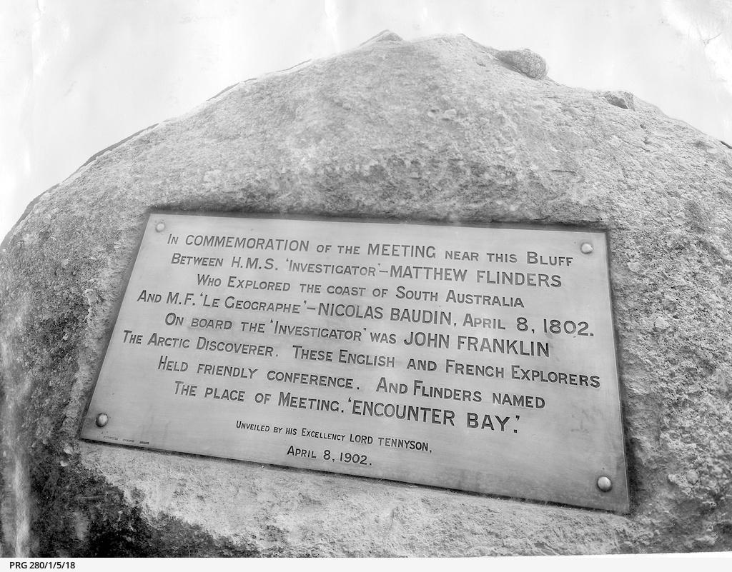 The Matthew Flinders and Nicolas Baudin tablet