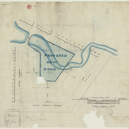[Plan of proposed new dock, Port Adelaide] [cartographic material]