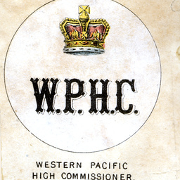 Emblem for the flag of the Western Pacific High Commissioner