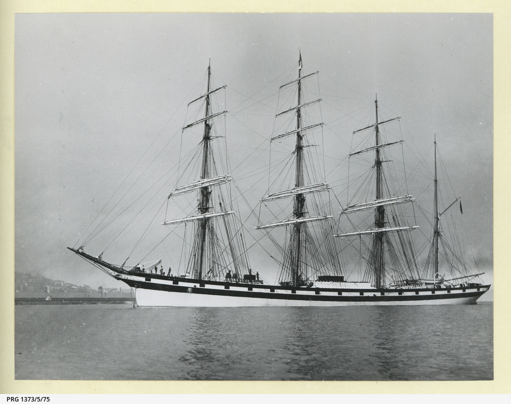 The 'Wanderer' anchored in an unidentified port