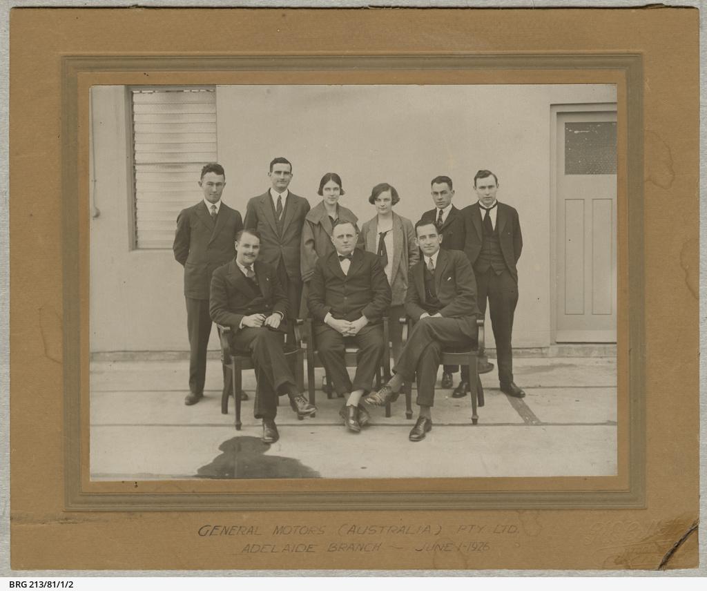 Staff of General Motors Australia, Adelaide branch