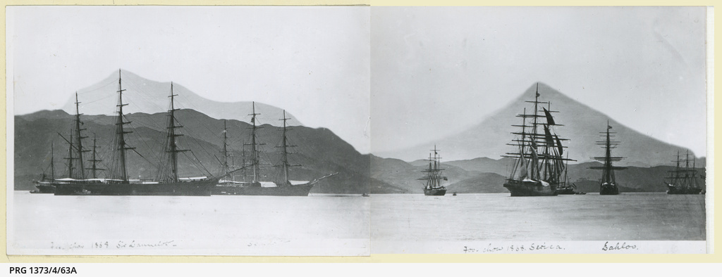 The 'Sir Lancelot', 'Spindrift', 'Serica' and 'Lahloo' at Foochow in 1868
