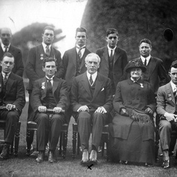 Sir Tom Bridges and Royal Humane Society medallists