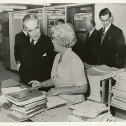 Visit of Sir Edric Bastyan to the Library