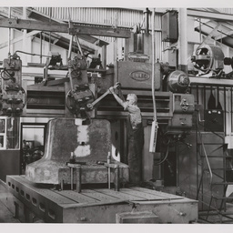 8 ton steam hammer anvil on Niles planer.