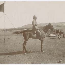 Army officer on a horse
