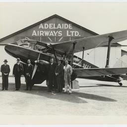 Group of men at Parafield aerodrome