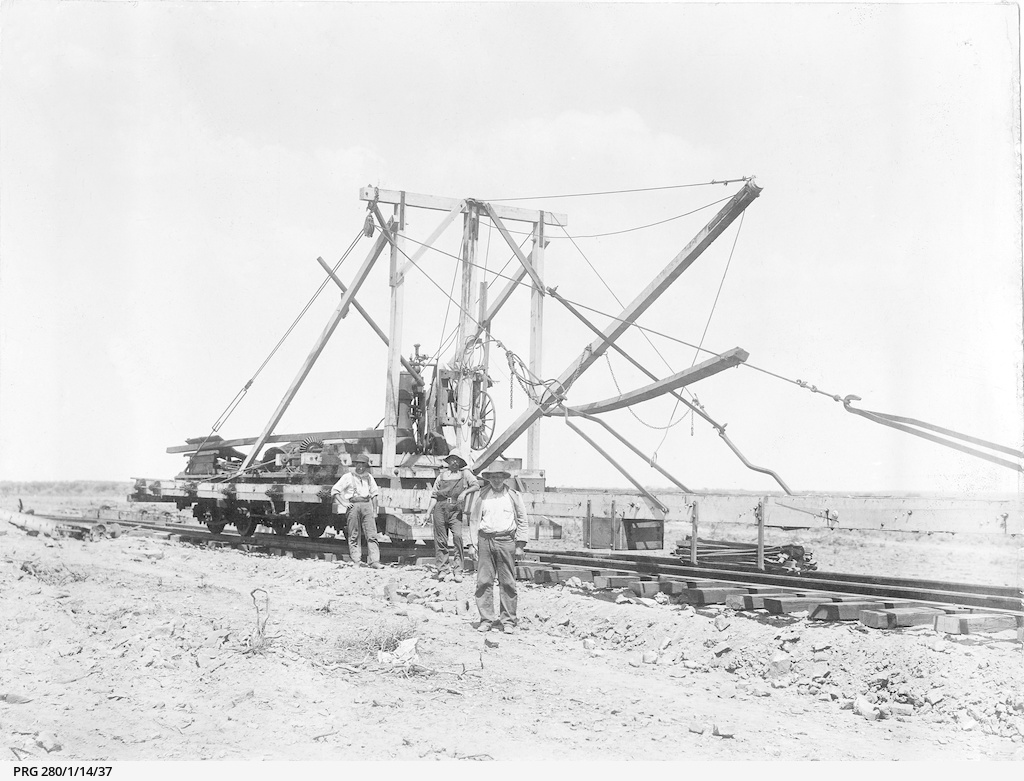 Construction of the East West railway