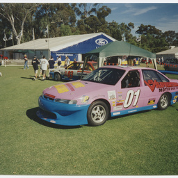 A Holden V-8 saloon racing car at Adelaide Clipsal 500