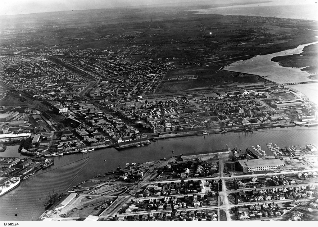 Aerial view of Port Adelaide