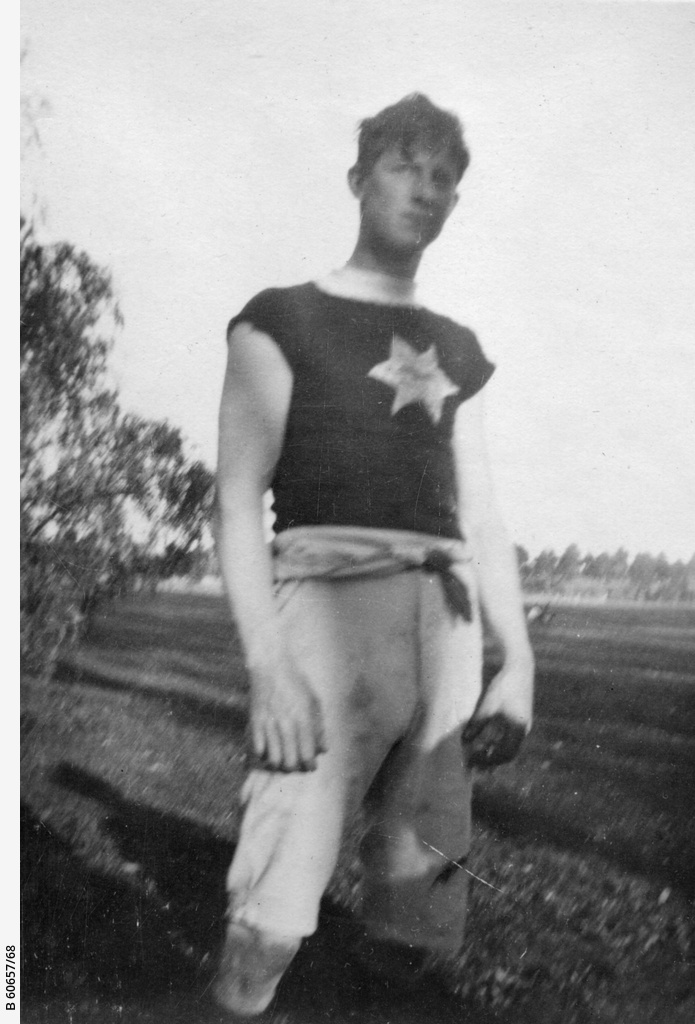 Young man in sporting attire