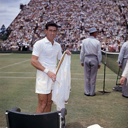 Ken Rosewall at the Davis Cup, Adelaide