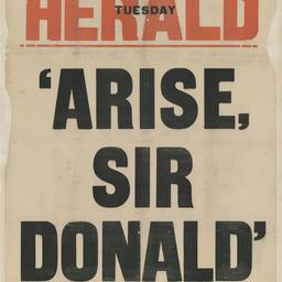 [Arise, Sir Donald]
