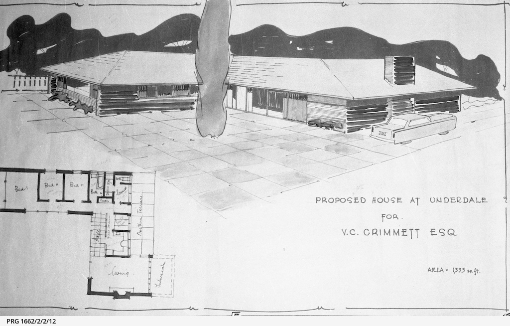 Plan of a house for V.C. Grimmett