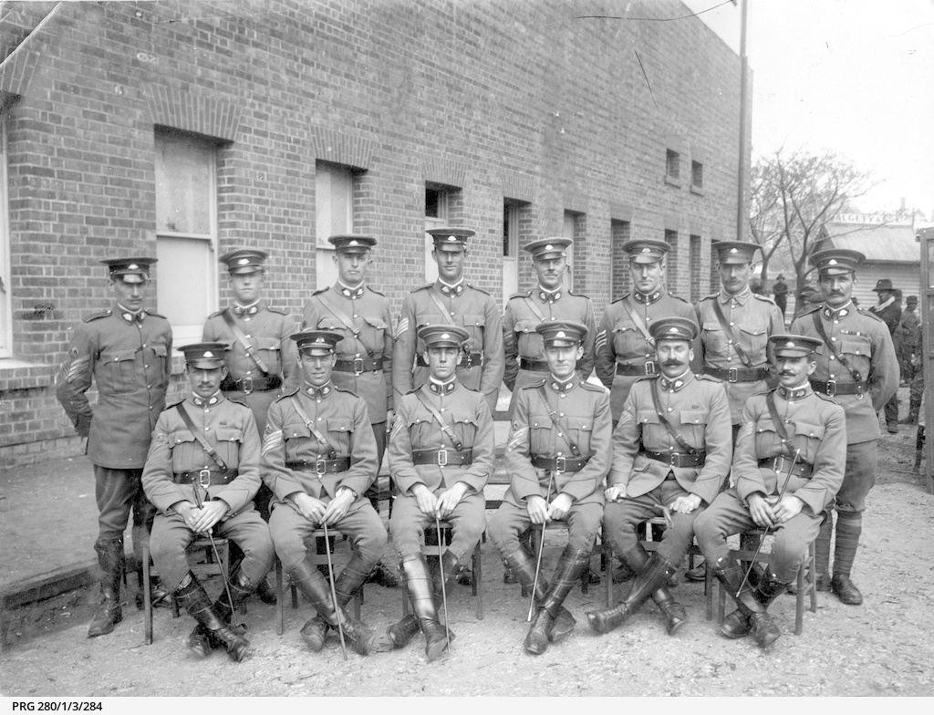 South Australian warrant officers outside quarters