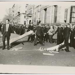 Police line at the Vietnam War Moratorium rally