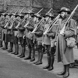 10th Battalion on parade
