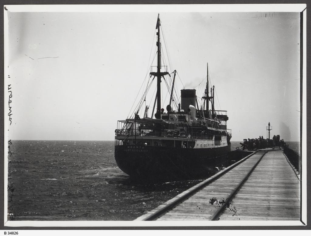 """""""Moonta"""" at Port Hughes Jetty"""