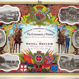 An invitation to attend a Royal Review at Flemington