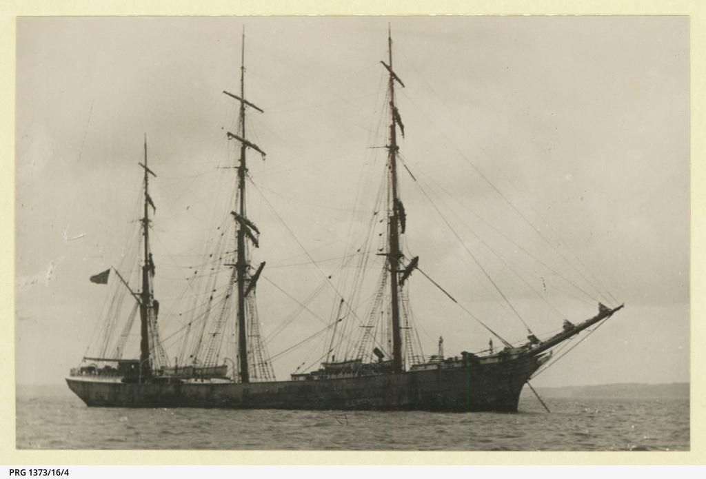 The 'Manx King' at anchor