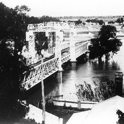 Wilcannia Bridge over the Darling in flood