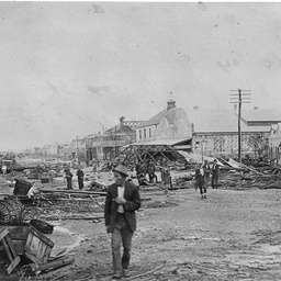Cyclone damage in Queensland