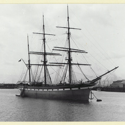 The 'Myrtle Holme' moored at Port Adelaide