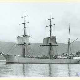 The 'Glenmark' in an unidentified harbour