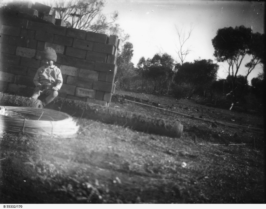 Young child in garden