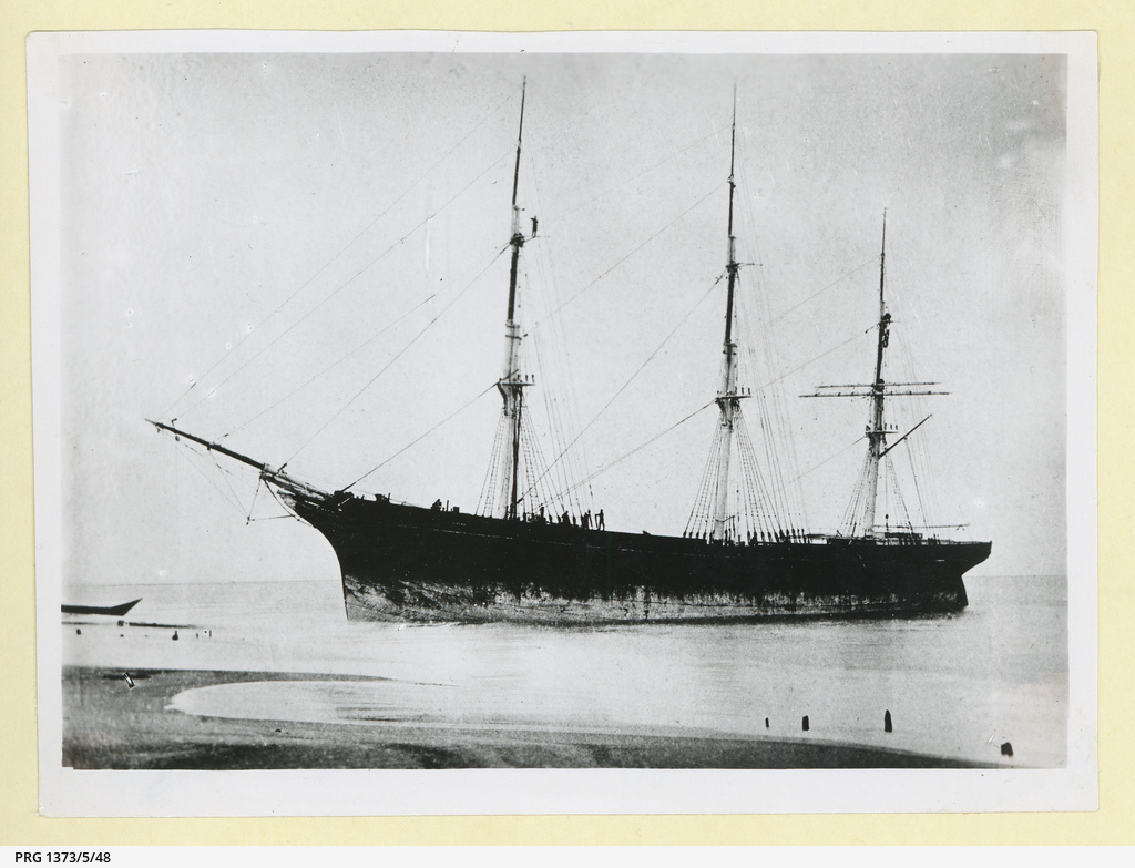 The 'Gitana' in an unidentified harbour