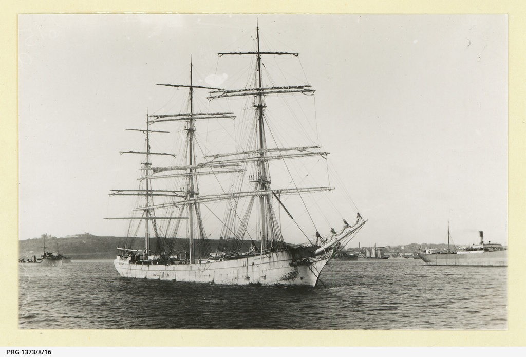 The 'Cambrian Princess' anchored in an unidentified port