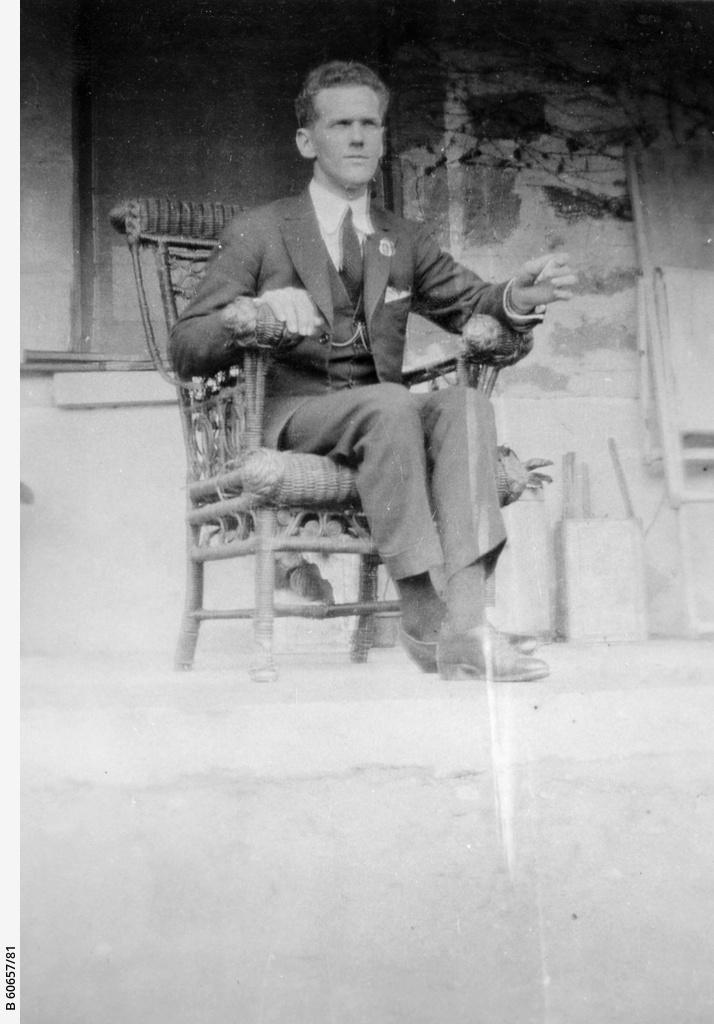 Man sitting on a verandah