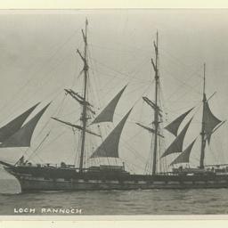 The 'Loch Rannoch' under sail