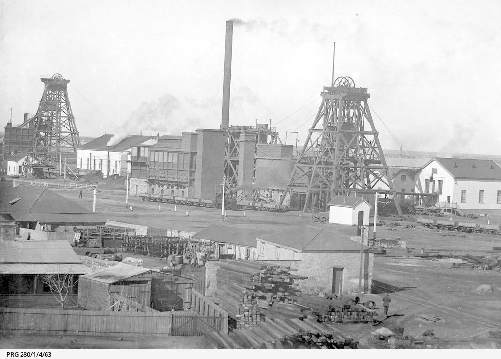Wallaroo mine buildings and shafts