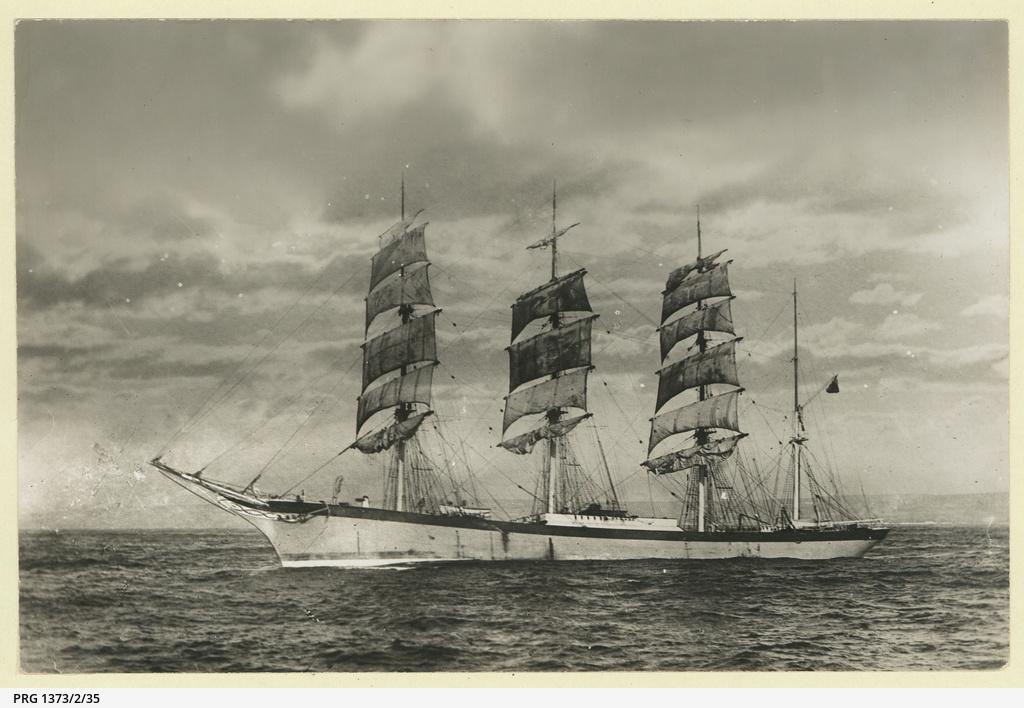 The 'Ellesmere' as a barque