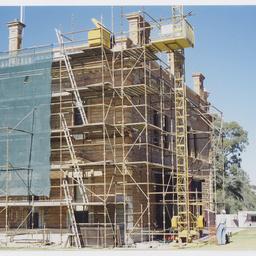 Building restoration at Martindale Hall