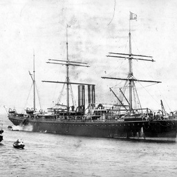 "The SS ""Valetta"", a steam/sail ship of the P. & O. Line"