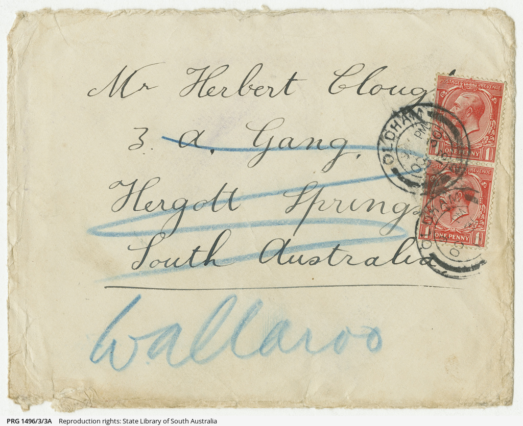 Cards received by Herbert Clough