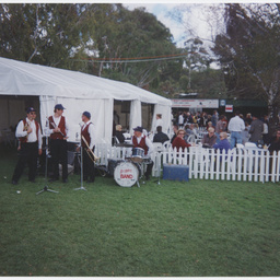 Brass band at the Oakbank Races