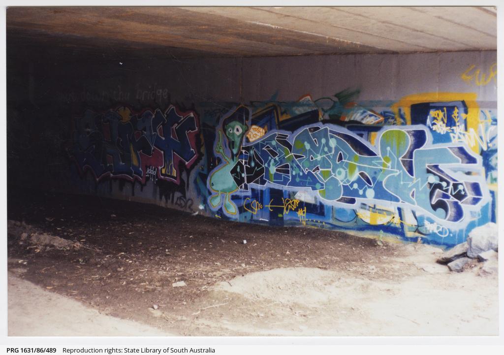 Graffiti under South Road Bridge, Darlington
