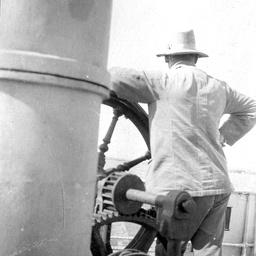 Sir George Le Hunte on board ship