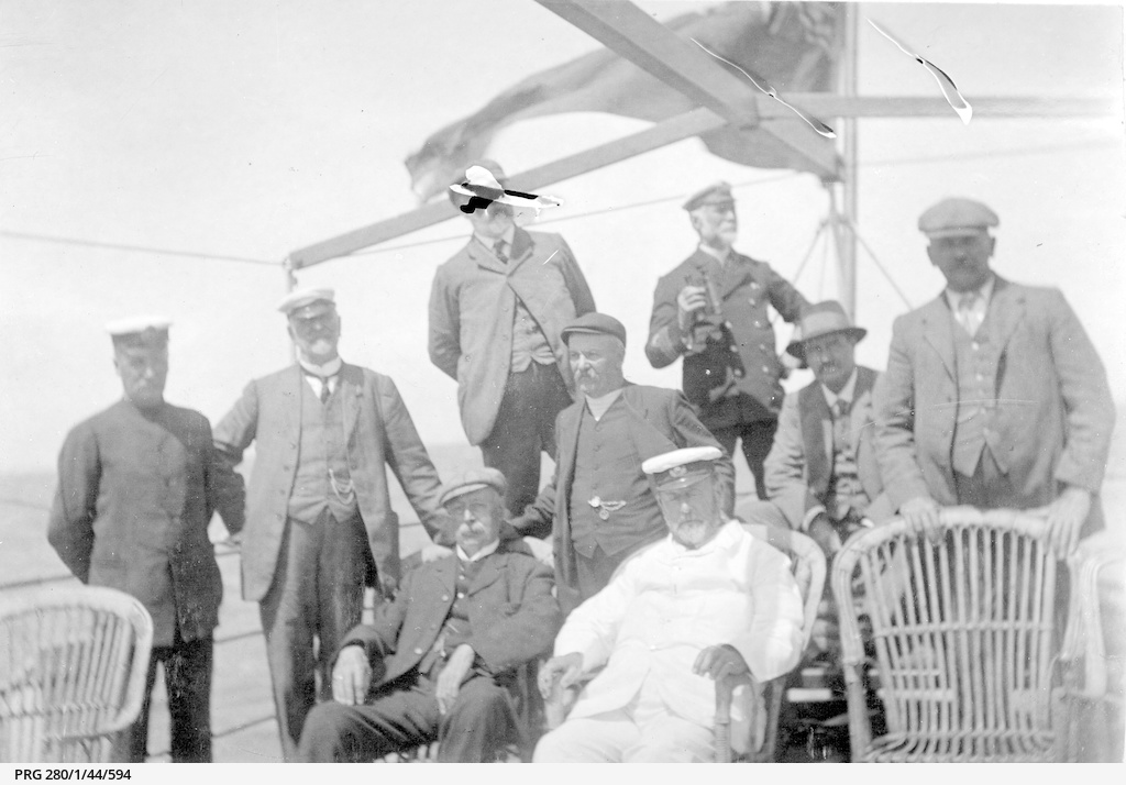 Arthur Searcy on board the SS 'Governor Musgrave'