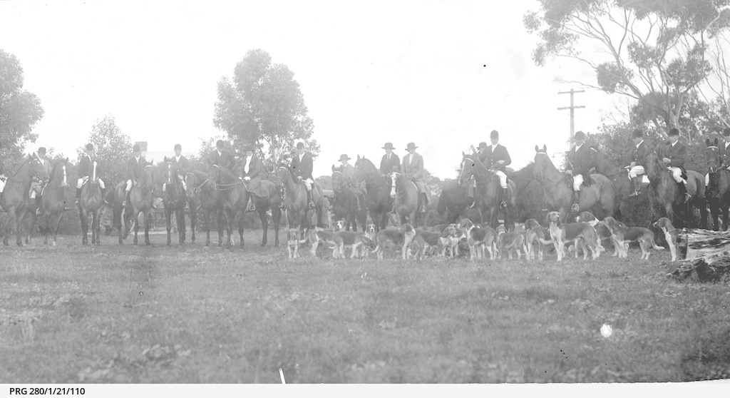 Members of the Adelaide Hunt Club out with the hounds