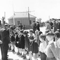 Speaking to children at Port Wakefield